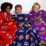 Snuggling on the couch in Snuggies