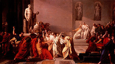 Caesar Stabbing painting