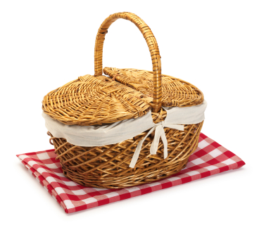 old fashioned picnic basket