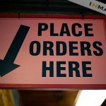 place orders sign