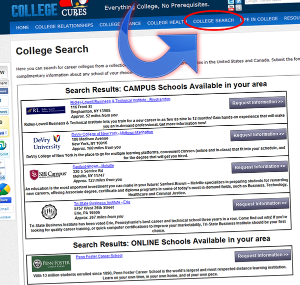 Finding A Great College Our College Search Helps Find Colleges