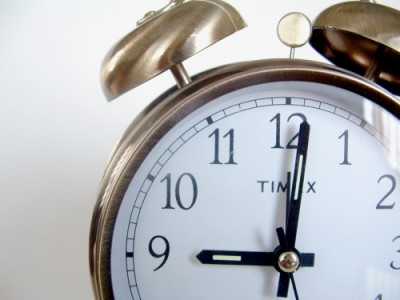 Set your alarm clock away from your bed to help yourself wake up in the morning