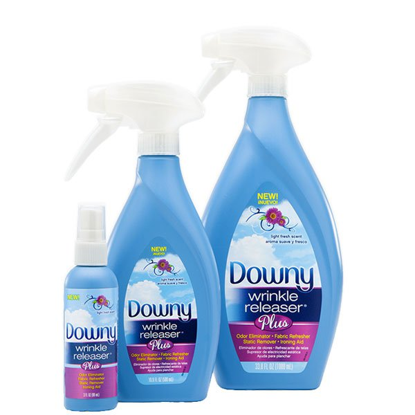 Downy Wrinkle Releaser Plus available in 3 sizes.