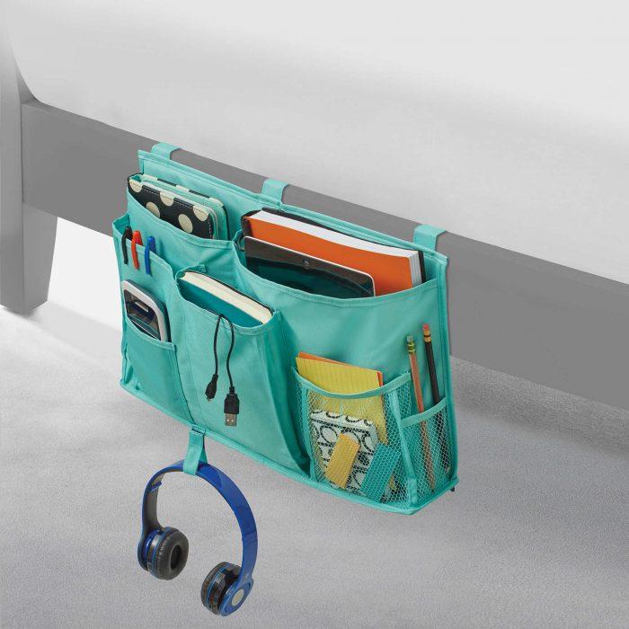 Studio 3B Bedside Storage Caddy in Aqua